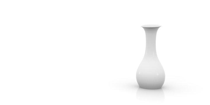 Empty vase on white background.