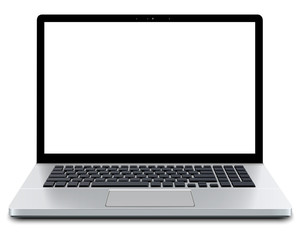 Laptop with empty screen