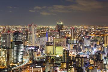 Twilight, Osaka city central business destrict, Japan