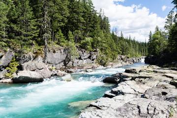 McDonald creek in Glacier National Park, USA
