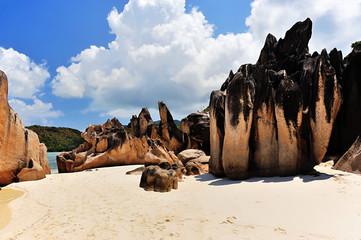 Beach on Island Curieuse, Seychelles