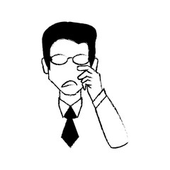 portrait male with glasses image vector illustration eps 10