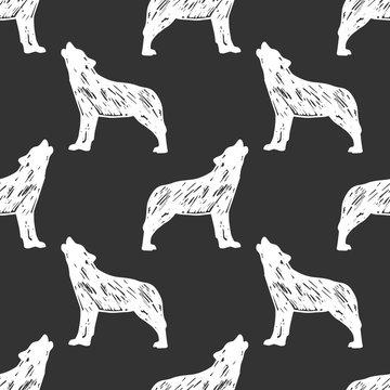 Seamless wolf pattern