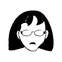 avatar female person head vector illustration eps 10