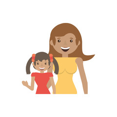 mother and her child image vector illustration eps 10