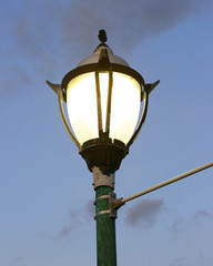 Postlight against a dark sky