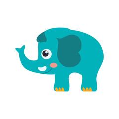 elephant cartoon drawing childish vector icon illustration