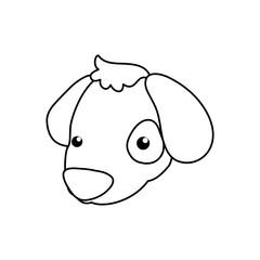 puppy cartoon drawing head vector icon illustration