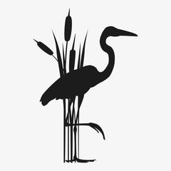 heron vector silhouette