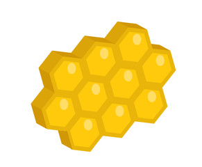 Honeycomb icon, flat style. Isolated on white background. Vector illustration, clip-art