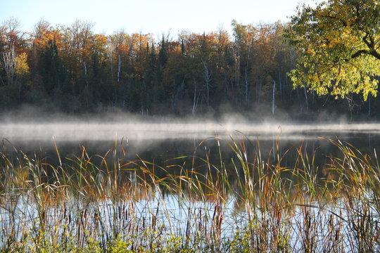 morning mist on Minnesota lake