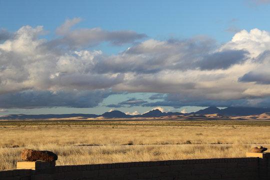 desert landscape in Marfa Texas