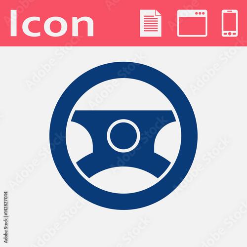 quotcar steering wheel symbol vector hmi dashboard flat icon