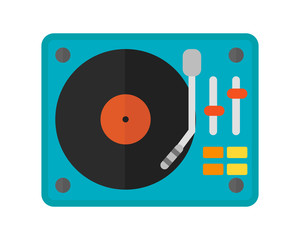 Dj music mixer equipment channels discotheque technology party nightclub mixing vector illustration.