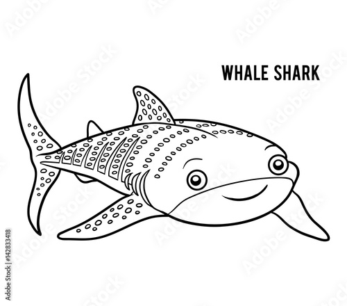 Coloring book, Whale shark\