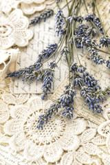 Lavender flowers vintage love postcards