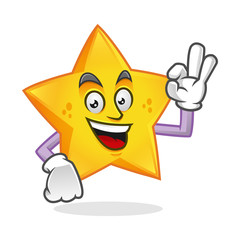 Delicious star mascot, star character, star cartoon vector