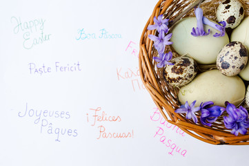 Eggs and Happy Easter note