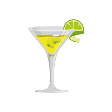 glass cocktail margarita vector icon illustration graphic design
