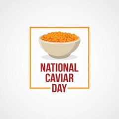 National Caviar Day Vector Illustration