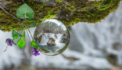 şelale & bahar & kristal kuvars yansımalar