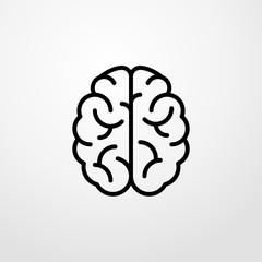 brain icon illustration isolated vector sign symbol