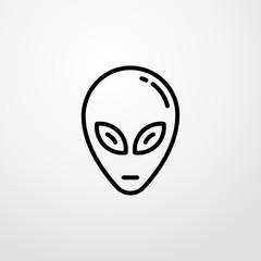 alien head icon illustration isolated vector sign symbol