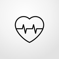 pulse icon illustration isolated vector sign symbol