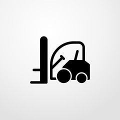 forklift icon illustration isolated vector sign symbol