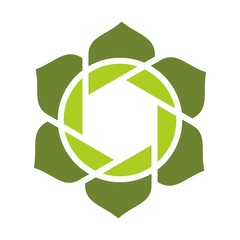 flower logo. photography logo vector.
