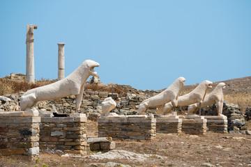 Lion Statues on Delos Island, Greece