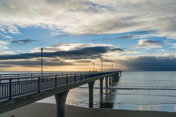 New Brighton pier on sunrise