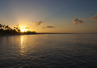 Sunrise in Caribbean