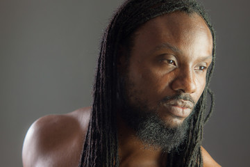 Rastafarian Headshot of a young African American Male