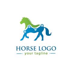 HORSE LOGO. animal logo with finance concept