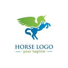 UNICORN LOGO. animal logo with finance concept
