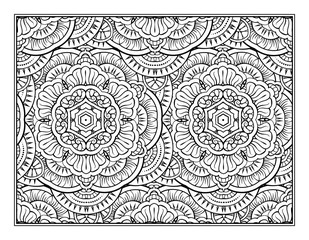 Fantasy decorative black and white pattern coloring page