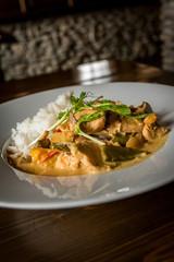 Thai chicken with rice