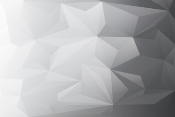 Abstract white-black background with lowpoly,triangle-shapes