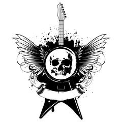 wings guitar skull_var 6