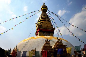震災前のネパール、スワヤンブナート
