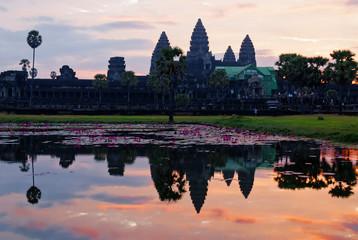 Angkor Wat at sunrise. Cambodia