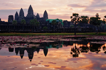 Angkor Wat at sunrise. Cambodia