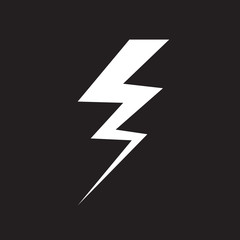 vector thunder icon design