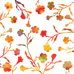 tree branches with leaves and flowers