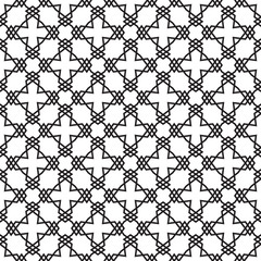 Seamless geometric vector pattern with linear crosses