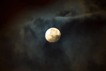 The Moon at Cloudy Night