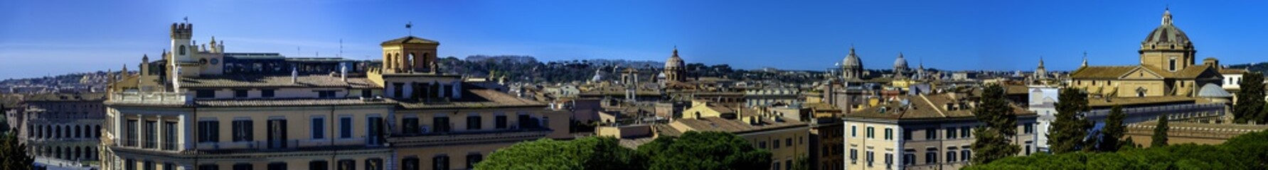 Panorama of Rome from the terrace of Victorian toward the Janiculum