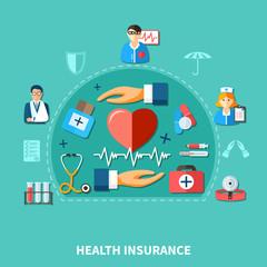 Medical Insurance Flat Concept