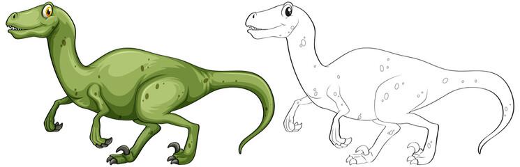 Animal outline for T-Rex dinosaur